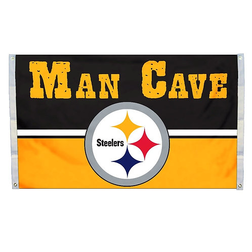 Pittsburgh Steelers 3'x5' Man Cave Flag