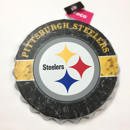 Pittsburgh Steelers Bottle Cap Wall Sign