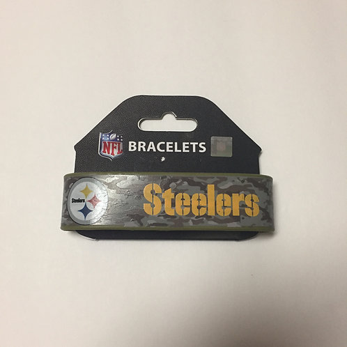 Pittsburgh Steelers Camo Silicone Bracelet