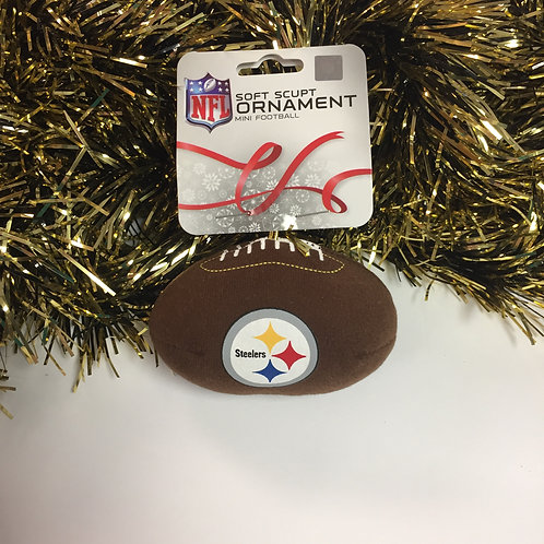 Pittsburgh Steelers Plush Football Ornament