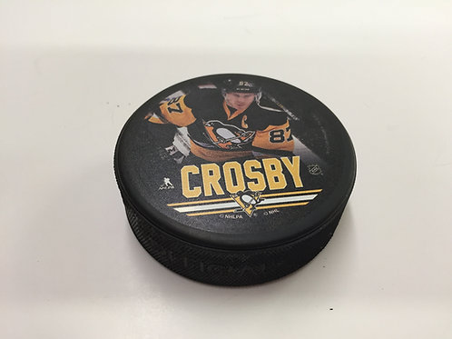 Pittsburgh Penguins Printed Crosby Hockey Puck
