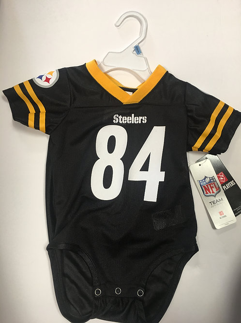Pittsburgh Steelers, #84 Brown, 18M Baby Jersey