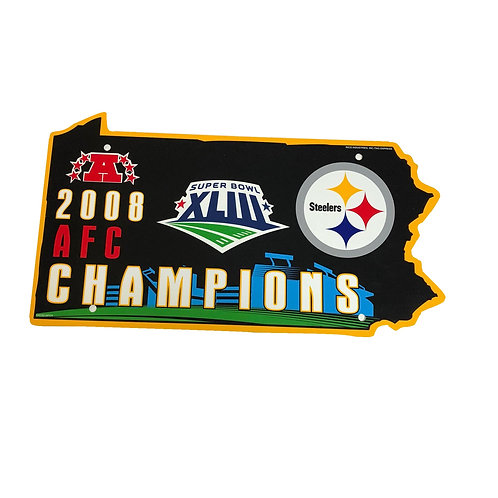 Pittsburgh Steelers 2008 AFC Champions Sign