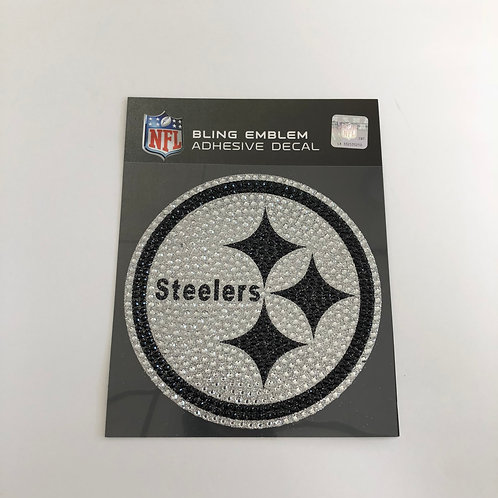 Pittsburgh Steelers Bling Emblem Adhesive Decal