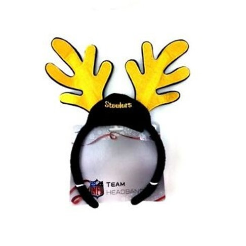 Pittsburgh Steelers Reindeer Ears Headband