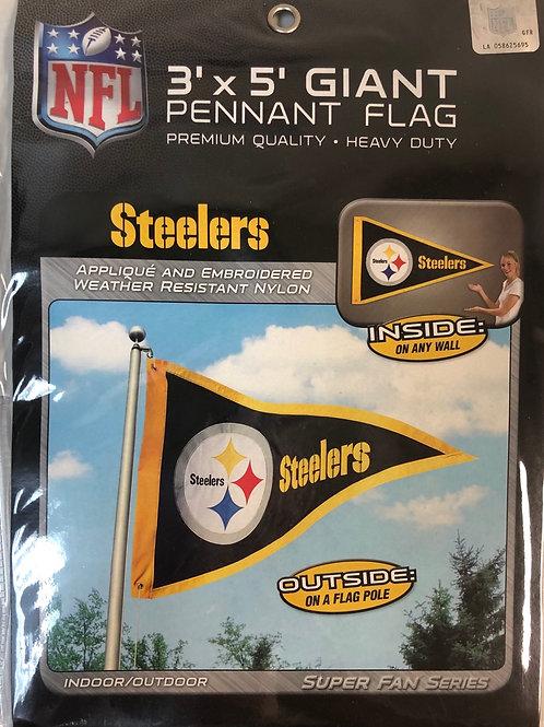 Giant 3x5 Steelers Pennant Flag