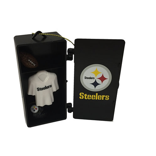 Pittsburgh Steelers Locker with Helmet and Jersey Ornament