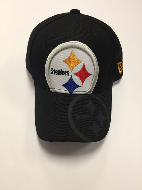 Pittsburgh Steelers Black Emblem Hat