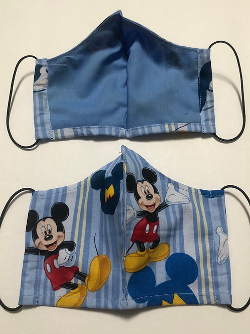*New Mickey Face Masks-Better Fit-Washable- Made In The USA