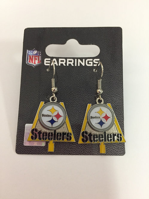 Pittsburgh Steelers Field Goal Post Earrings