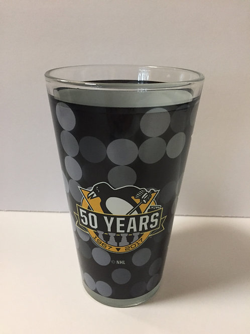 50 Years Pittsburgh Penguins 16oz Glass
