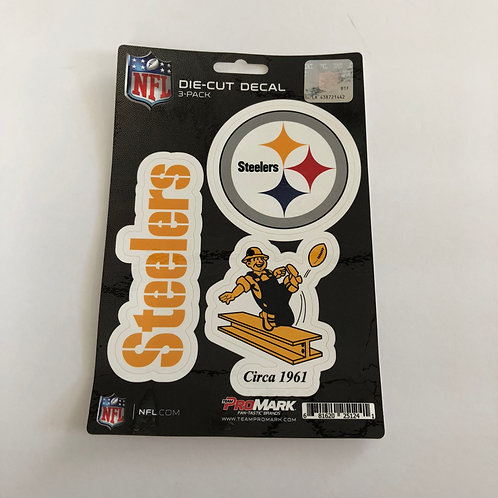 Pittsburgh Steelers Die Cut Decal, 3 Pack