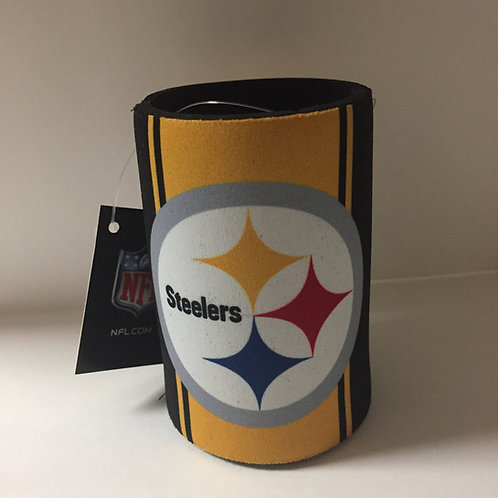Pittsburgh Steelers Black/Yellow Striped Can Koozie
