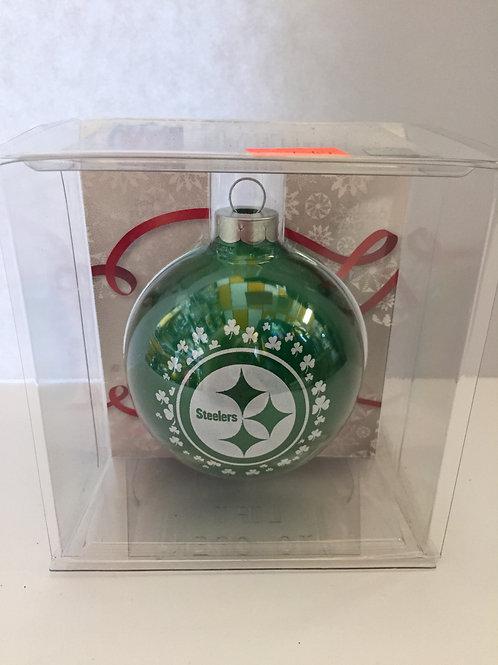 NFL Green Glass Ornament
