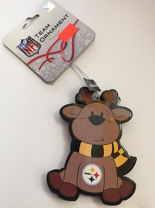 Pittsburgh Steelers Reindeer Ornament