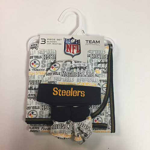 Pittsburgh Steelers, 3 Piece Baby Apparel