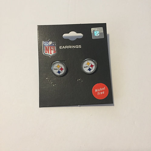 Pittsburgh Steelers Emblem Stud Earrings