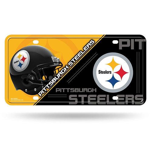 Pittsburgh Steelers Helmet & Emblem- License Plate