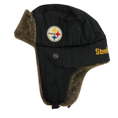 Pittsburgh Steelers Black w/fur Eskimo Hat