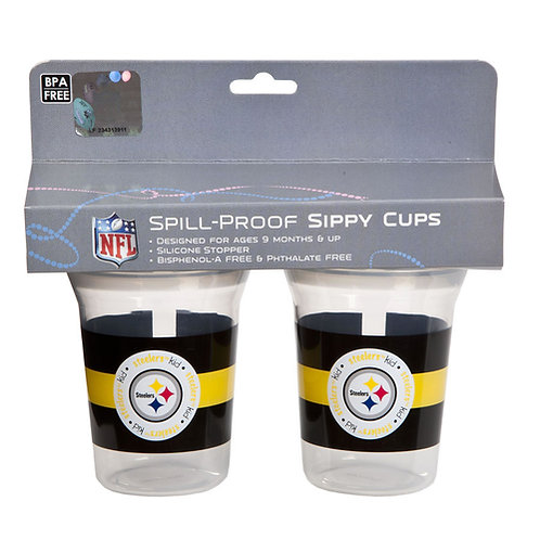 Pittsburgh Steelers 2-Pack Spill Proof Sippy Cups