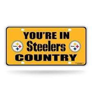 Pittsburgh Steelers - You're In Steeler Country/Yellow - License Plate