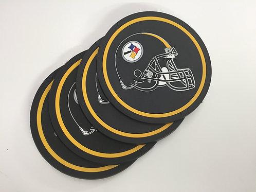 Pittsburgh Steelers 4 Pack Helmet Coasters