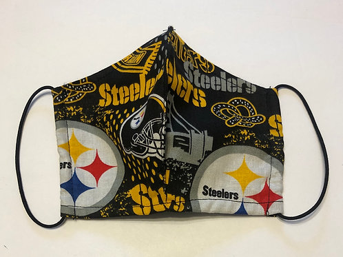Kids Steelers Face Mask (Individually Hand Made In The USA) Washable