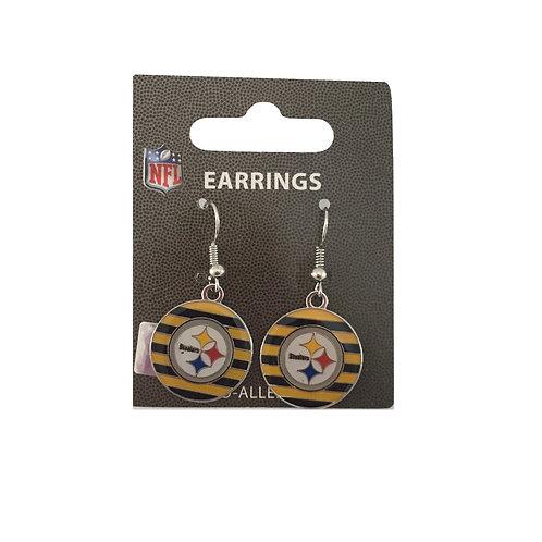 Pittsburgh Steelers Yellow & Black Striped Earrings
