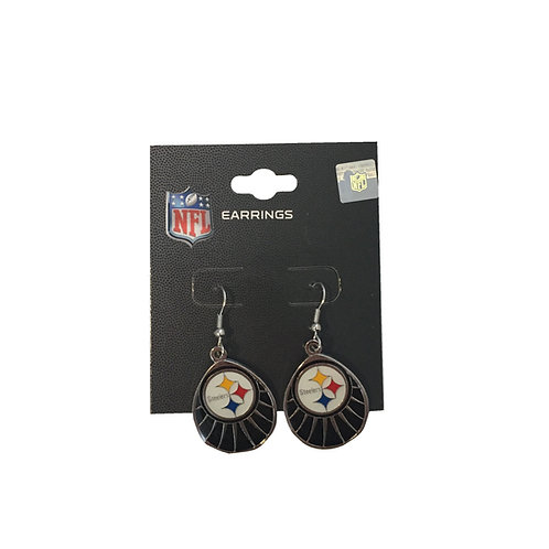 Pittsburgh Steelers Large Teardrop Earrings