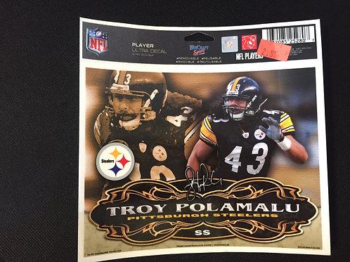 """Pittsburgh Steelers 6""""x5"""" Troy Polamalu Ultra Decal"""