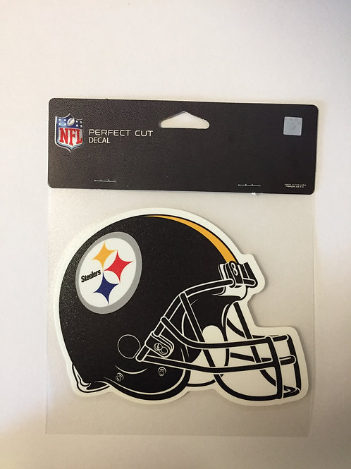 "Pittsburgh Steelers 6""x5"" Helmet Perfect Cut Decal"