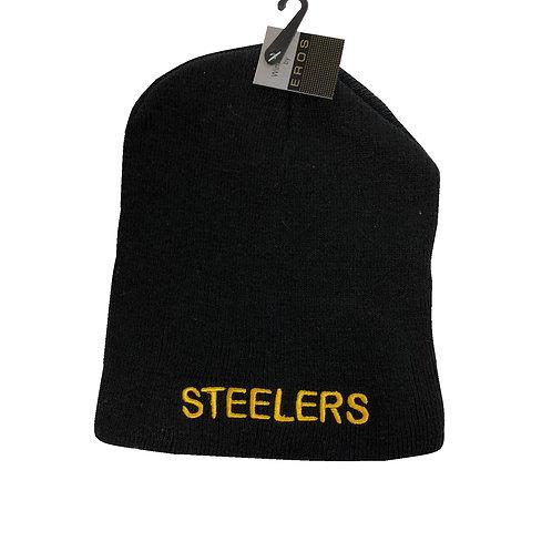 Pittsburgh Steelers Black Beanie with Team Name