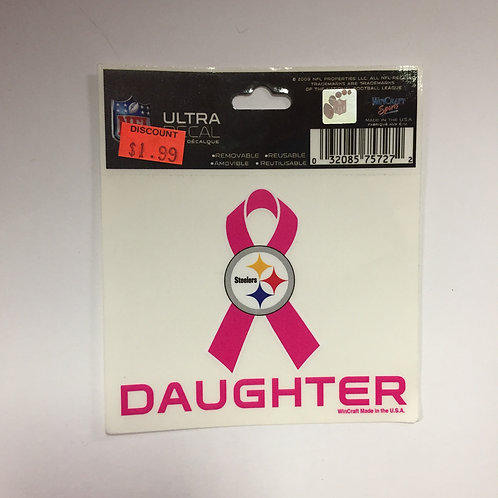 Pittsburgh Steelers 'Daughter' Breast Cancer Ultra Decal