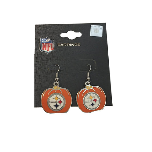 Pittsburgh Steelers Halloween Pumpkin Earrings