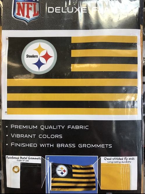 Steelers American Deluxe Flag