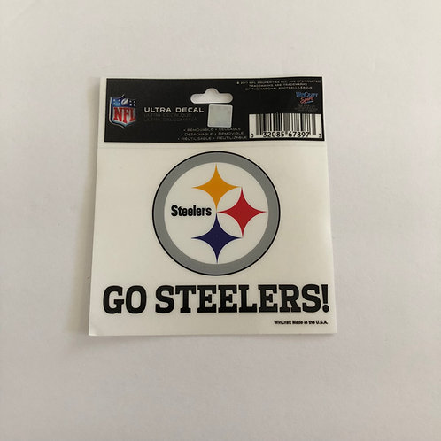 "Pittsburgh Steelers 3.5""x3.5"" 'Go Steelers' Ultra Decal"