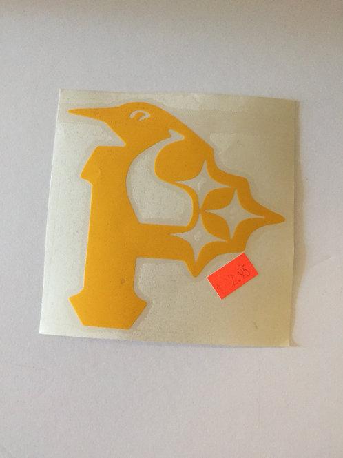 "Pittsburgh Emblem 4.5""x 4.5"" Decal"