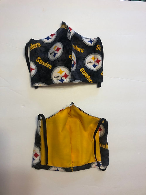 Steeler Face Masks Washable (Hand Made In The USA)