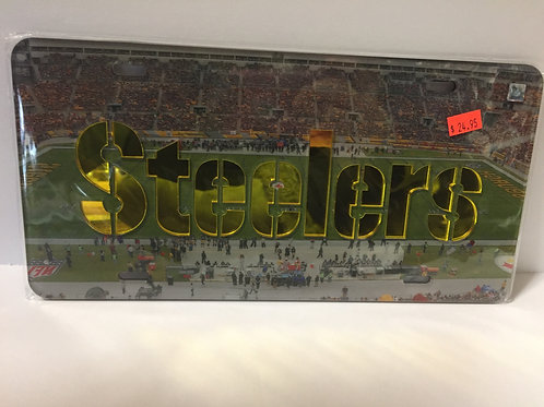 Pittsburgh Steelers Stadium Mirror - License Plate