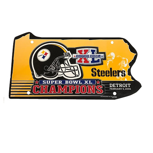 Pittsburgh Steelers XL Superbowl Champions Sign