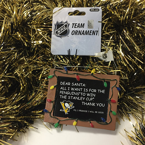Dear Santa, Pittsburgh Penguins Ornament