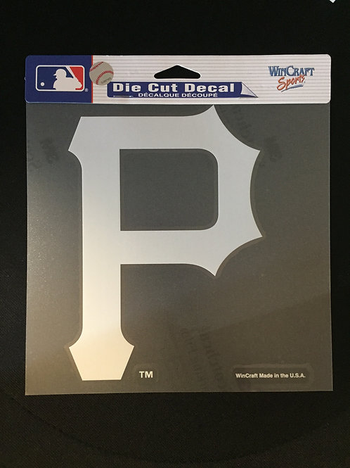 Pittsburgh Pirates, White Emblem, Die Cut Decal