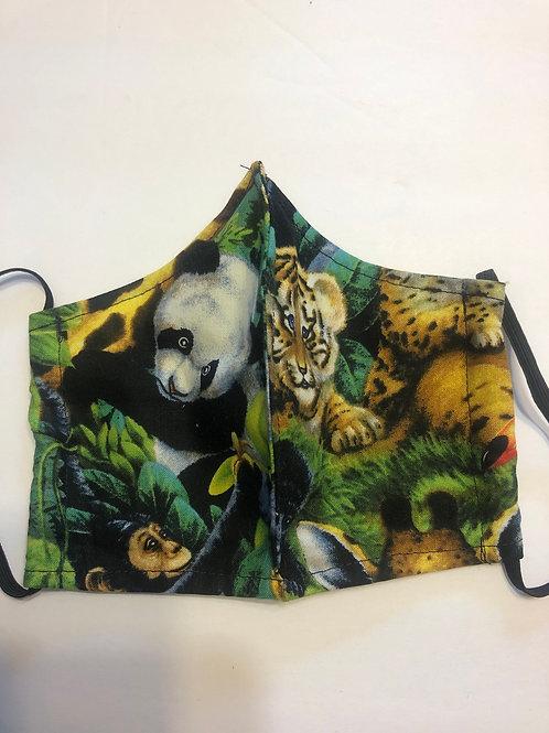 Jungle Animals Face Masks Washable
