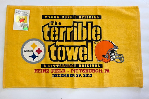 Pittsburgh Steelers Cleveland Browns Terrible Towel