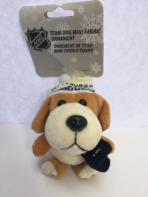 Pittsburgh Penguins, Team Dog Mini Fabric Ornament