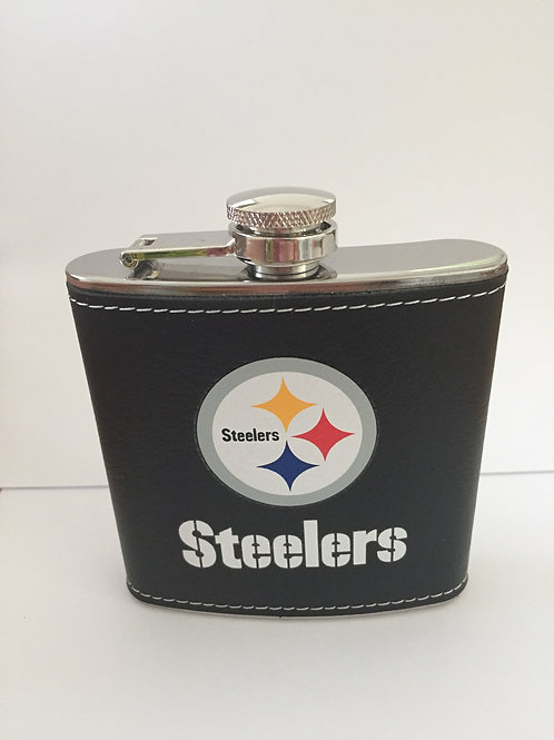 Pittsburgh Steelers Black Hip Flask