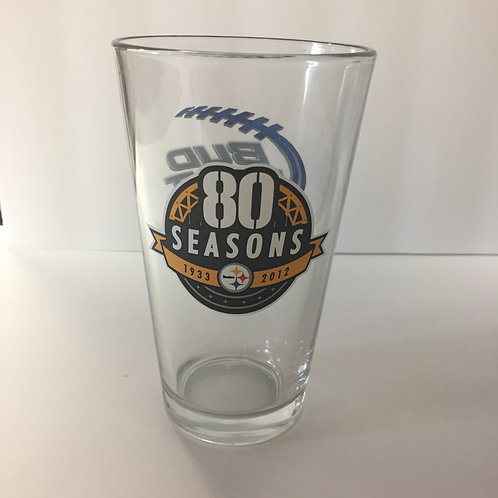 Pittsburgh Steelers, 80 Seasons Bud Light 16oz Glass