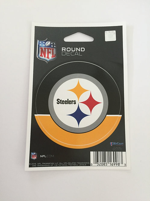 Pittsburgh Steelers Round Decal