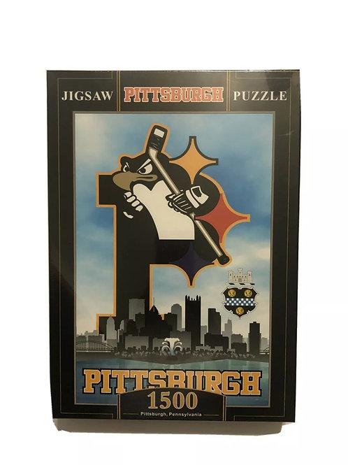 Pittsburgh Triple Team Puzzle 1500pcs