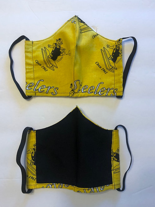 Steelers McBeam Face Mask Washable (Individually Hand  Made In The USA)